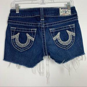 True Religion Johnny Raw Hem Shorts